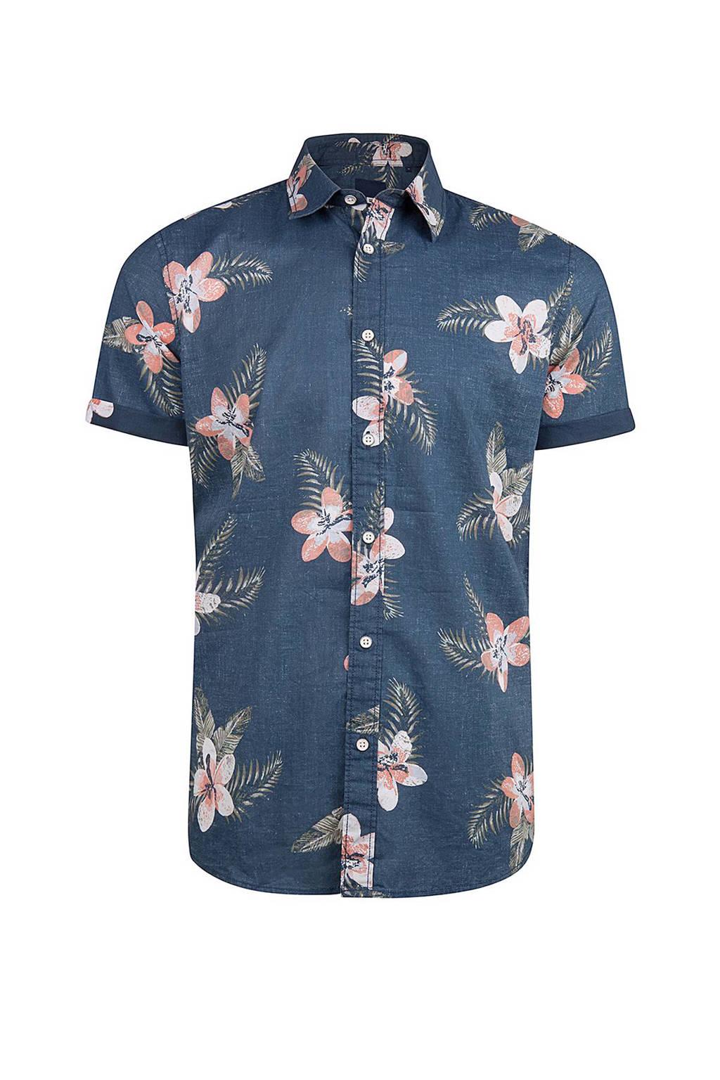 Bloemetjes Overhemd.We Fashion Relaxed Fit Overhemd Met Bloemen Blauw Wehkamp