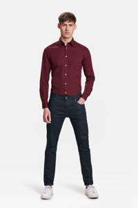 WE Fashion slim fit overhemd, Bordeaux