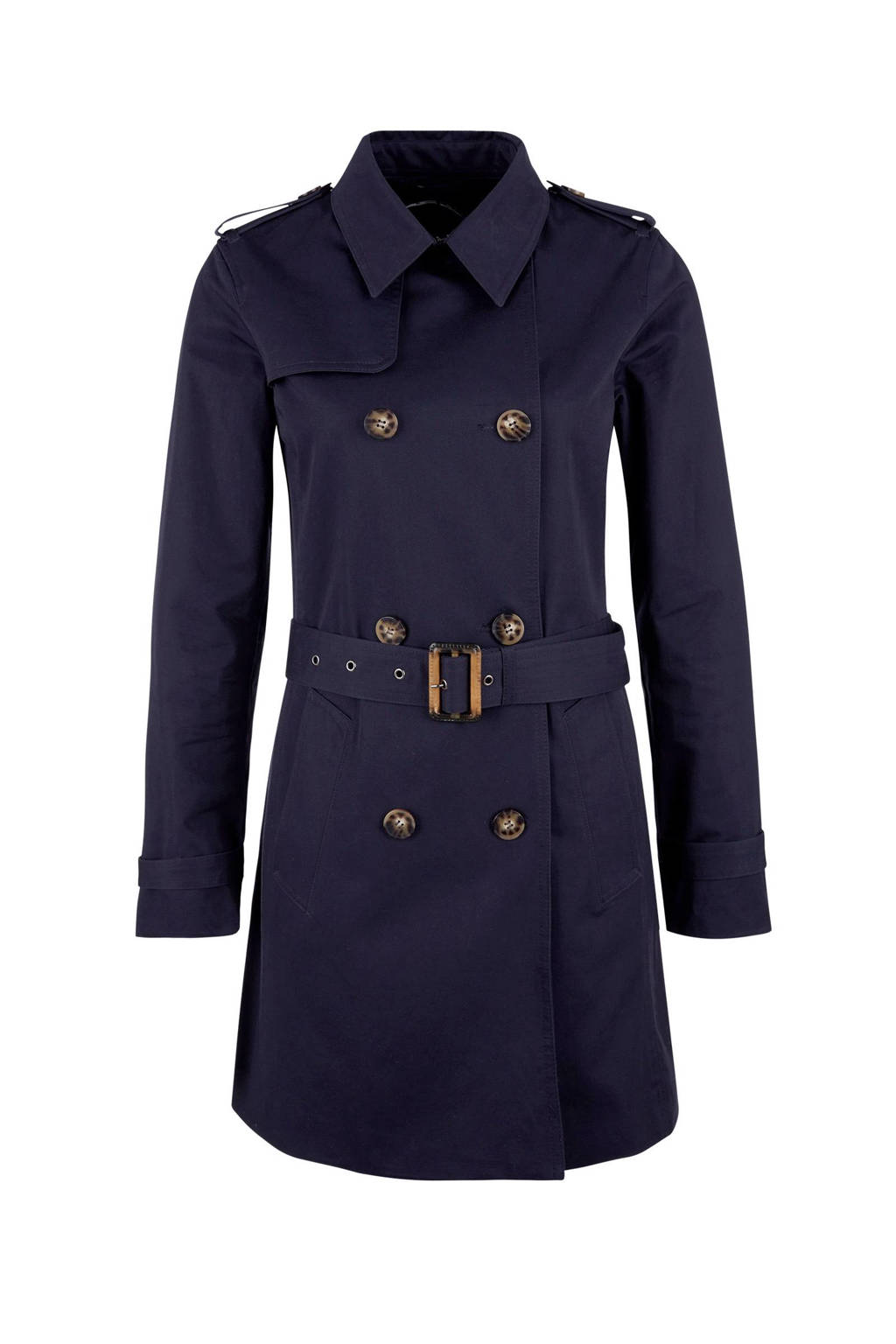 s.Oliver double breasted trenchcoat, Marine