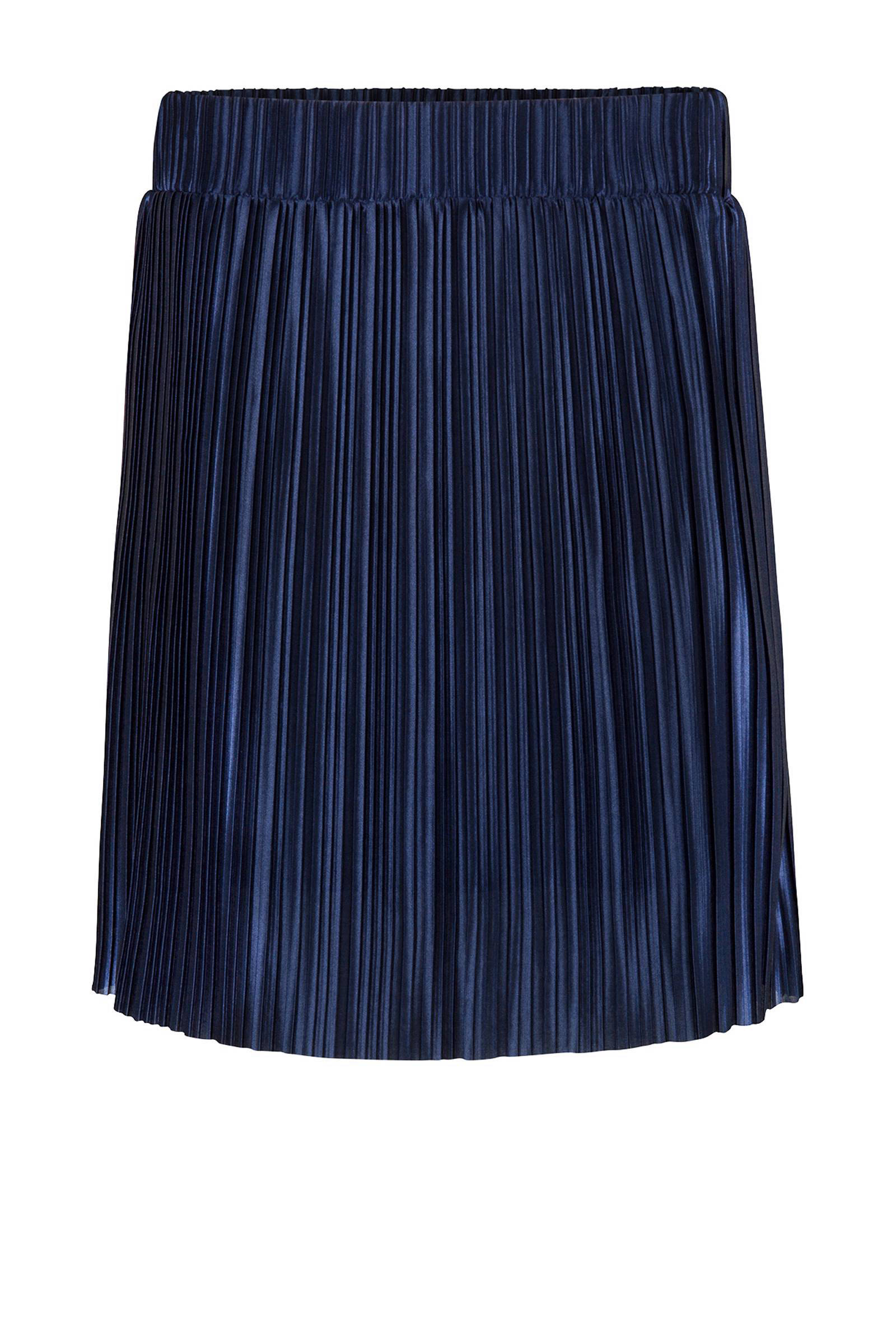 WE Fashion plissé rok marineblauw (dames)
