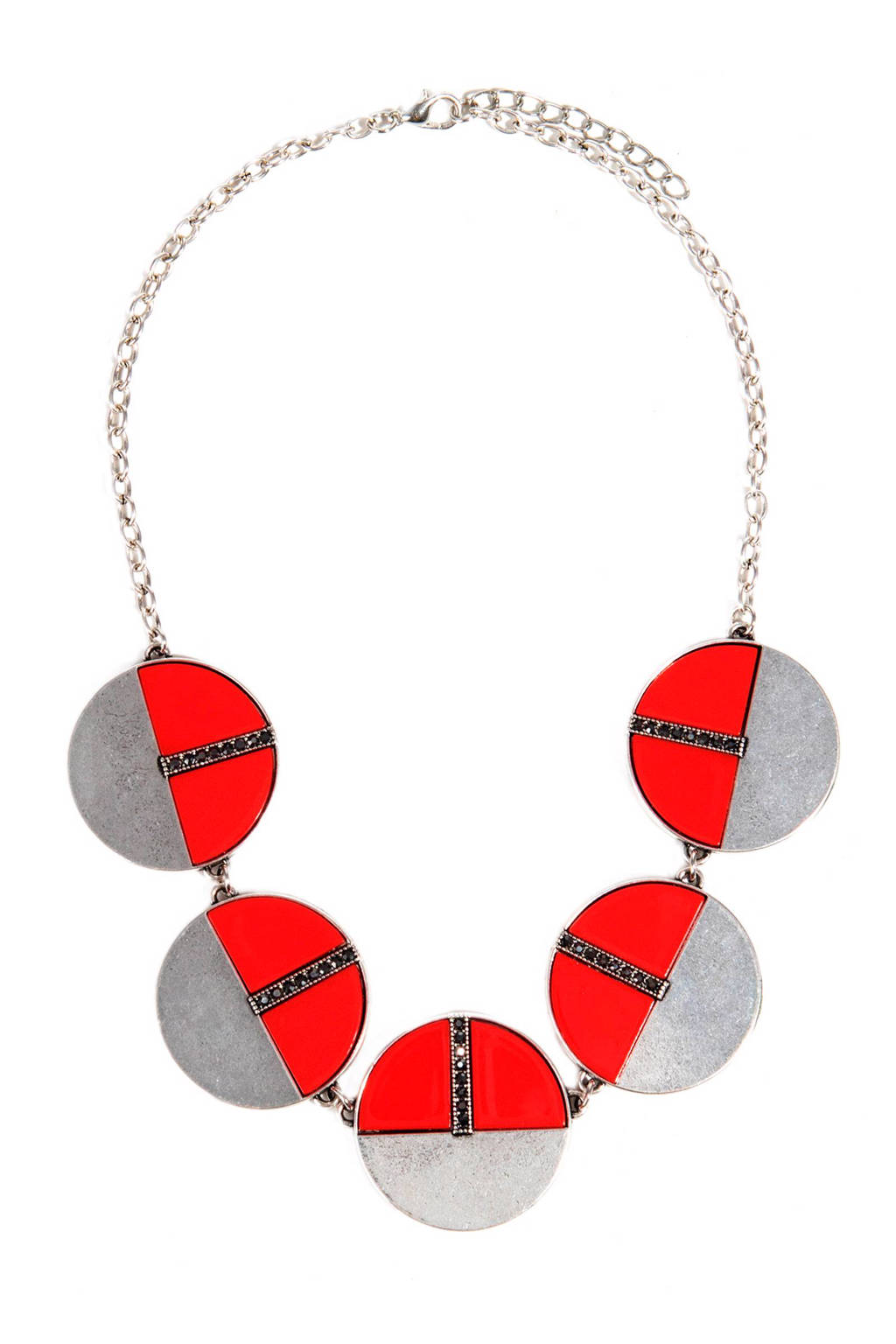 Parfois ketting, Zilver/Rood