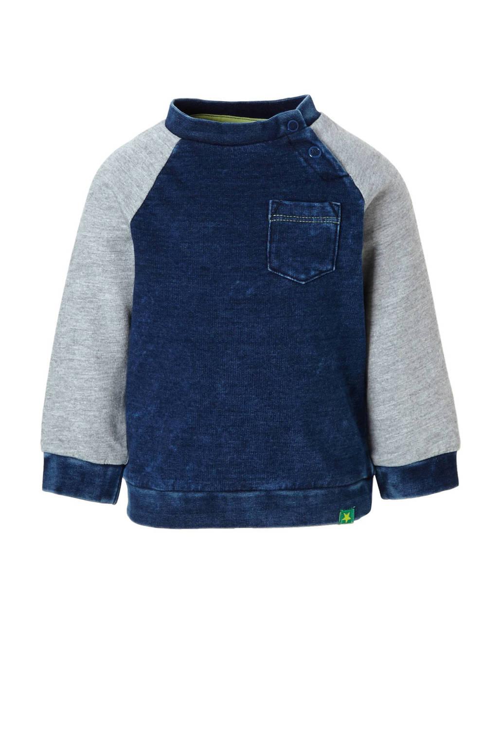 C&A Baby Club sweater, Dark denim/grijs melange