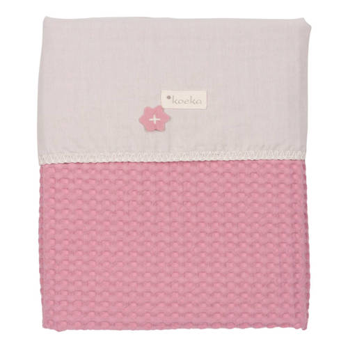 Wiegdeken Wafel-Flanel Antwerp Blush Pink-Pebble