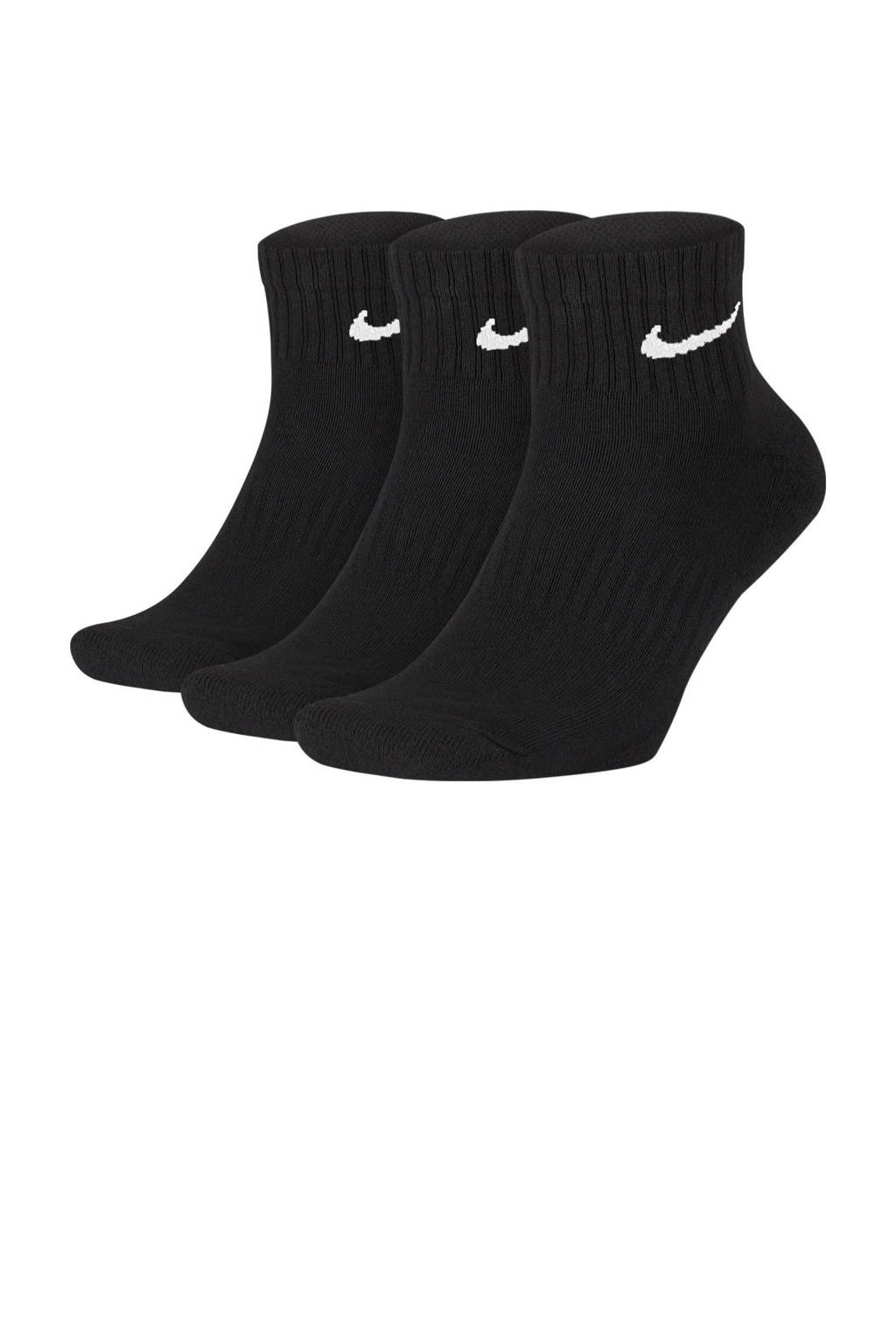 Nike   sportsokken - set van 3 zwart, Zwart/wit
