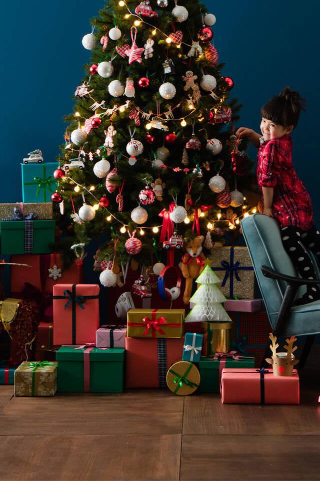 mooie feestdagen kerstbomen en kerstverlichting