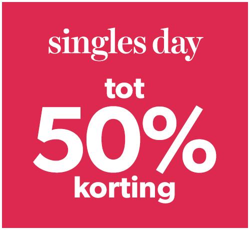 singles day tot 50% korting